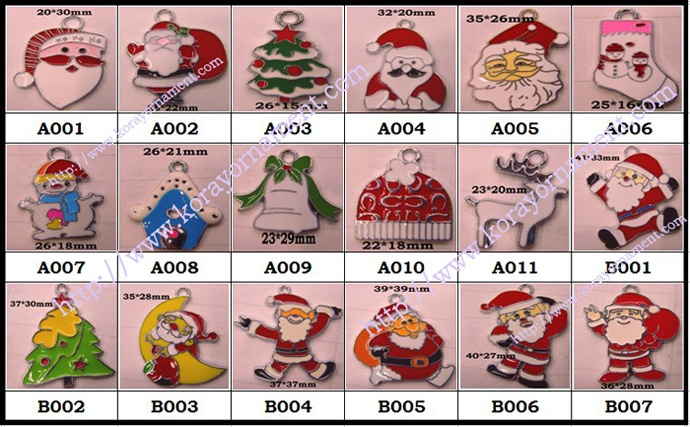 Enamel Christmas Charms